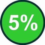 Cinco por cento