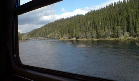 O mundo pela janela do trem