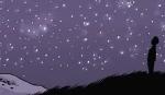 Criança olhando estrelas