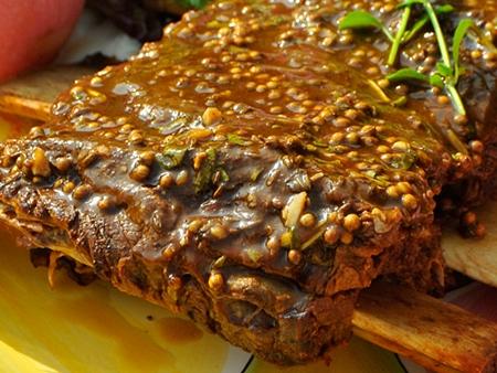 Picanha ao molho de mostarda